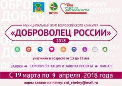 Всероссийский конкурс «Доброволец России 2018» — городской этап