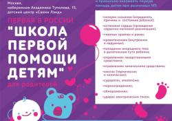Первая в России «Школа первой помощи детям» для родителей